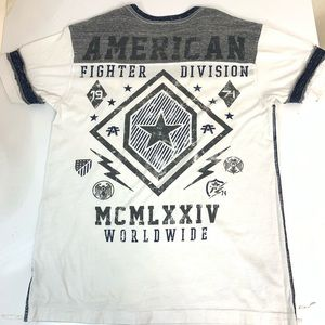 American Fighter Shirts - American Fighter Mens Short Sleeve Tee. Large